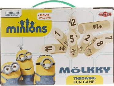Mölkky version Minions : photo du packaging officiel